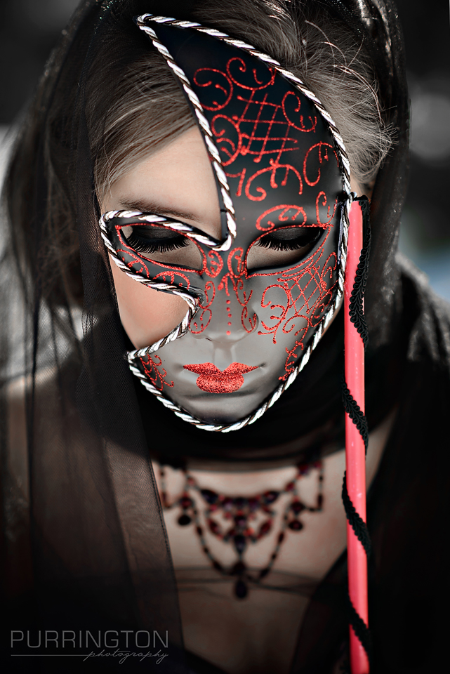 red and black mask masque glamour fashion photo