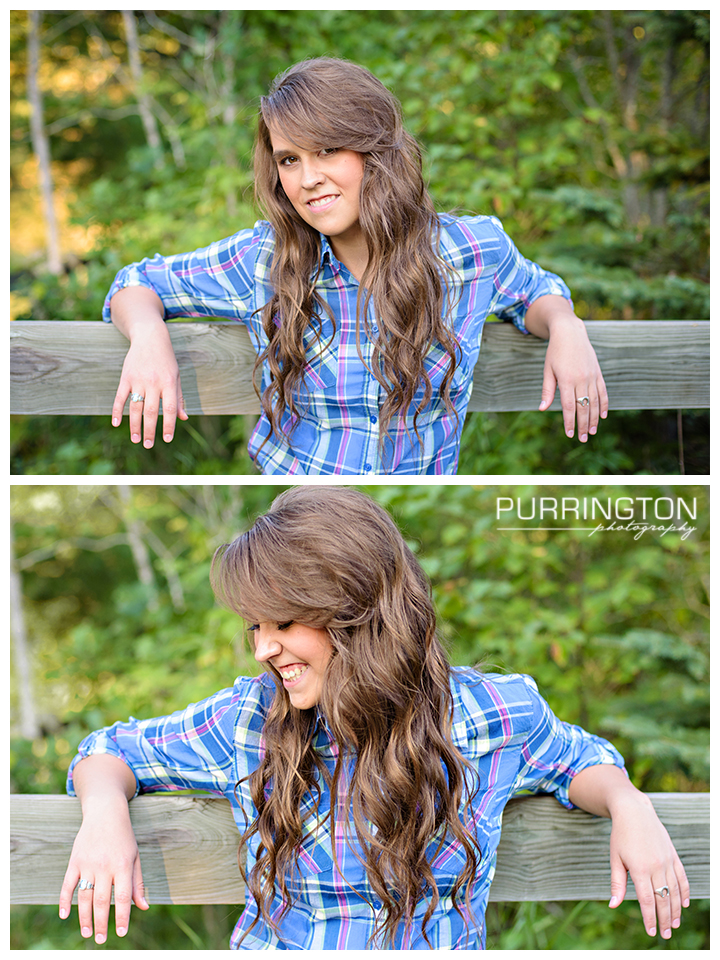 senior girl with fence pose poses idea ideas