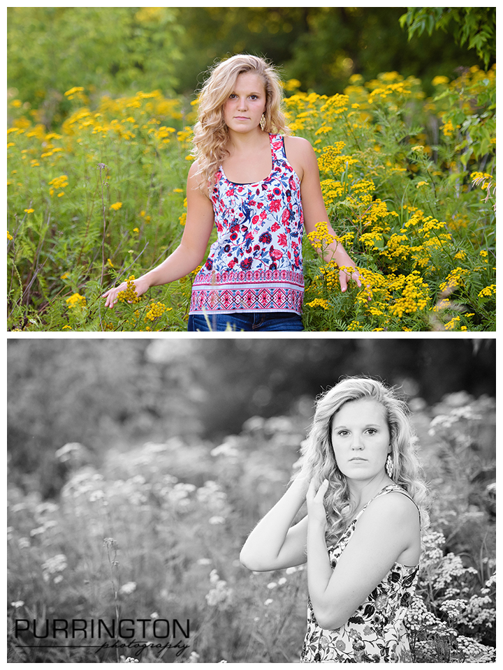 senior pictures girl in yellow field flowers pose poses idea ideas hands © Purrington Photography www.PurringtonPhotography.com Bemidji Northern Minnesota MN Senior Portrait Photographer