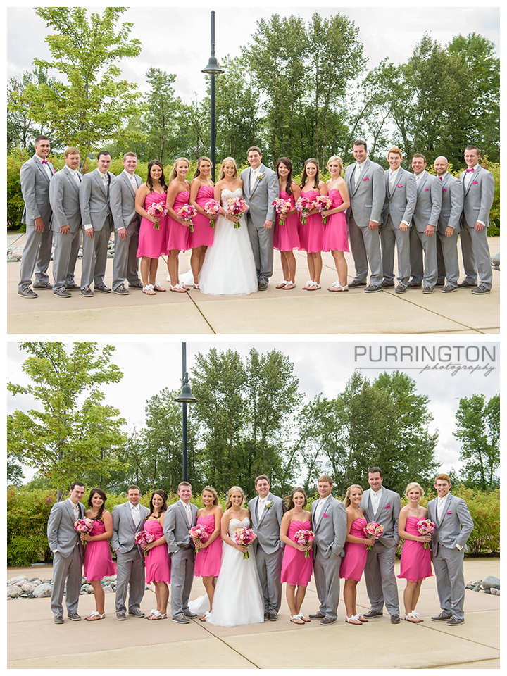 bridal party gray and pink
